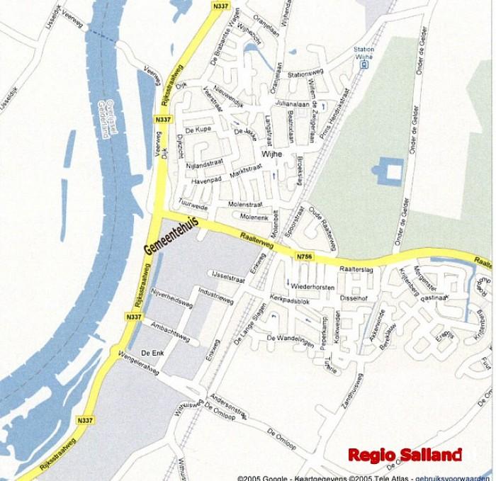 Nieuw gemeentehuis in Wijhe aan de IJssel - Foto: eigen kaart