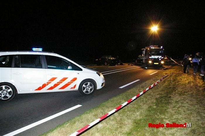 Frontale aanrijding op N332 nabij Holten - Foto: Jasper Hutten