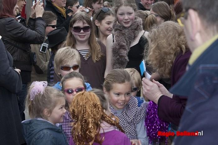 Leerlingen als sterren onthaald bij Springplank in Heino - Foto: Pim Haarsma
