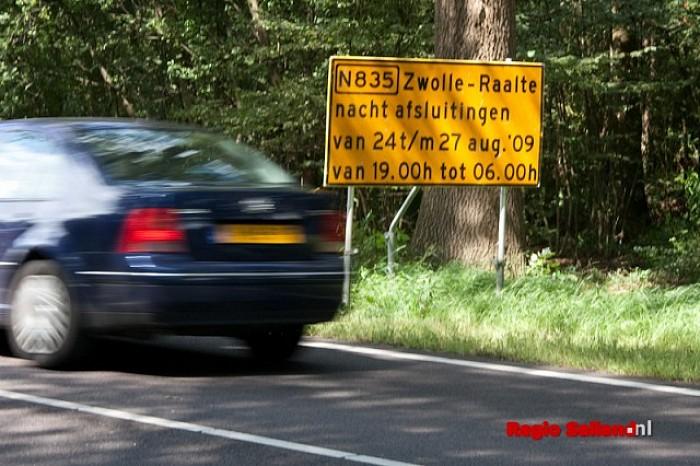 N35 tussen Zwolle en Raalte enkele nachten afgesloten - Foto: Pim Haarsma