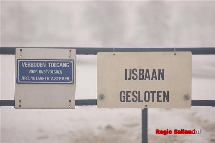 Schaatsplezier op schaatsbaan Elshof van korte duur - Foto: Jasper Hutten