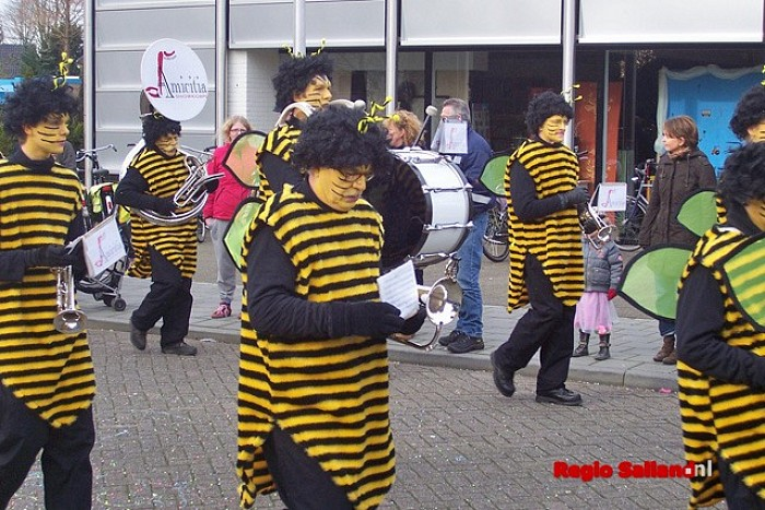 Geen muziekkorpsen in Raalter carnavalsoptocht - Foto: Pim Haarsma