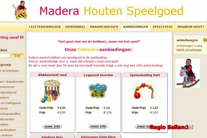 Madera Houten Speelgoed uit Lemelerveld opent webshop - Foto: Onbekend