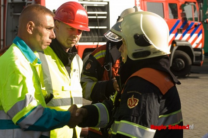 Spannende finale brandweerwedstrijden in Wesepe - Foto: Pim Haarsma