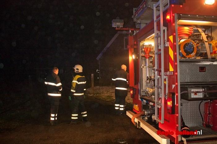 Brand op bovenverdieping woning in Lierderholthuis - Foto: Pim Haarsma