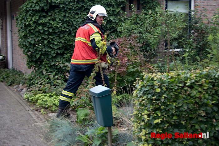 Brandje bij composthoop in Hoonhorst snel geblust - Foto: Pim Haarsma