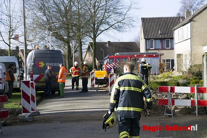 Gaslekkage aan de van der Kettenstraat in Luttenberg - Foto: Jasper Hutten