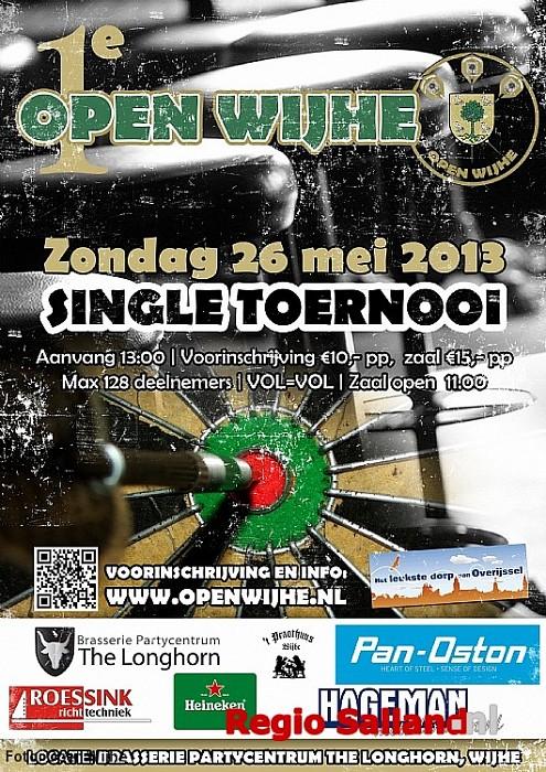 Open Wijhe single darttoernooi in de Longhorn - Foto: Eigen foto
