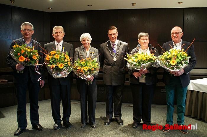 Vijf Koninklijke onderscheidingen in Olst-Wijhe