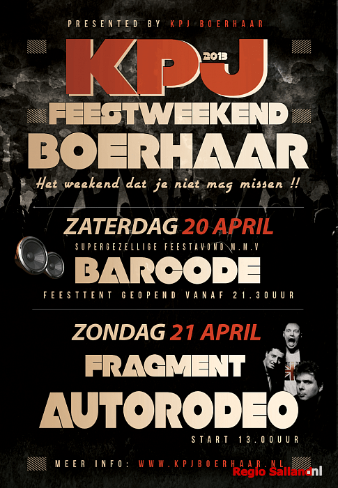 Feestweekend KPJ Boerhaar 20 en 21 April 2013 - Foto: Eigen foto