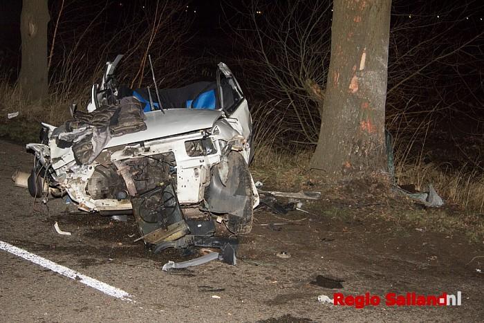 Vier jongens gewond na ernstig eenzijdig ongeval Olst - Foto: Pim Haarsma