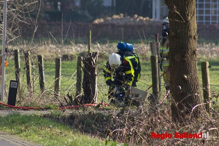 Hulpdiensten druk met grote gaslekkage in Dalfsen - Foto: Pim Haarsma