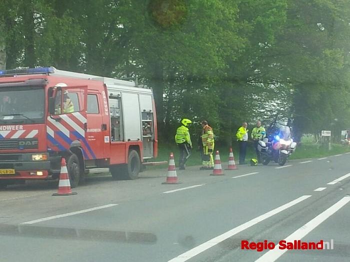 Eenzijdig ongeval op N348 bij Wesepe - Foto: Wesley van de Kraats