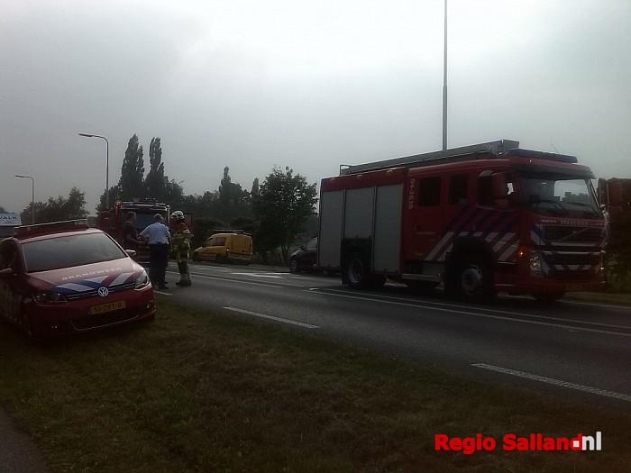 Ongeval met drie personenauto's aan de N348 in Raalte - Foto: Redactie RS