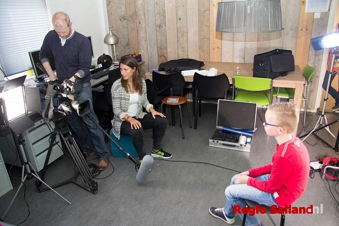 Opnames Jeugdjournaal bij Oostenwind in Raalte - Foto: Pim Haarsma