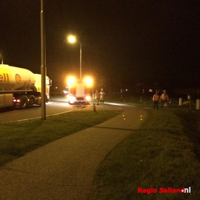 Gaslekkage en dieselspoor bij rotonde Raalte-Zuid/N348 - Foto: Nick Jonkman
