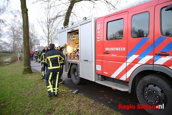 Vuurwerk veroorzaakt brand in boom in Rijssen - Foto: Jasper Hutten