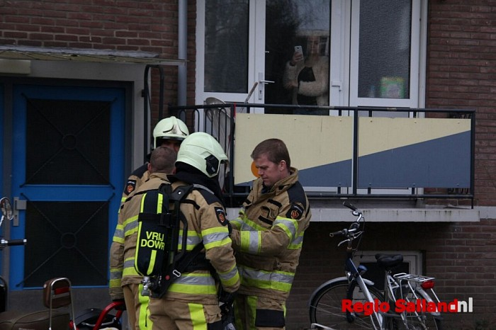 Brandje in kelderbox aan de Eleonorstraat in Deventer - Foto: Pim Haarsma