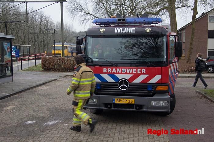 Treinbrand blijkt vastgelopen rem in Wijhe - Foto: Pim Haarsma