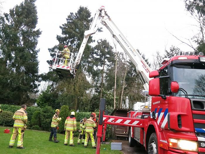 Brandweer voorkomt vallen boom op huis in Heino - Foto: NuHeino