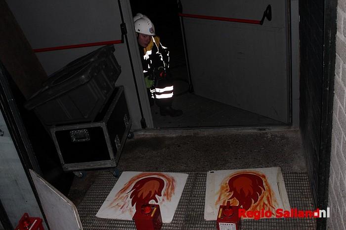 Jeugdbrandweer Deventer oefent bij De Leeren Lampe in Raalte - Foto: Redactie RS