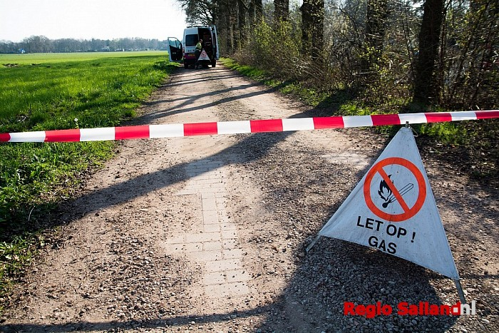 Gaslekkage na graafwerkzaamheden in Heino - Foto: Jasper Hutten