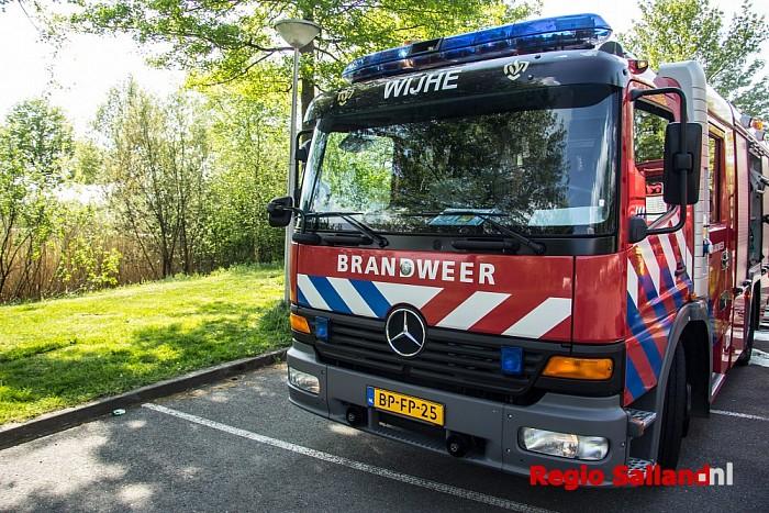 Bermbrand snel geblust bij De Lange Slagen in Wijhe - Foto: Pim Haarsma