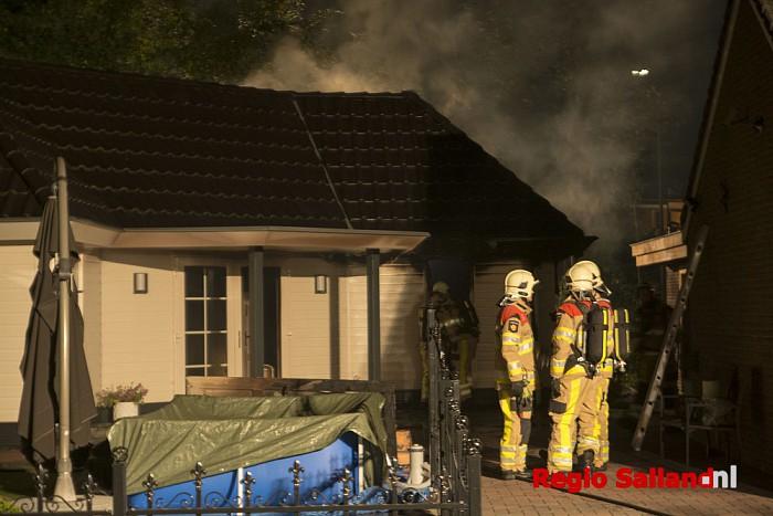 Felle brand in woning aan de Heerd in Raalte