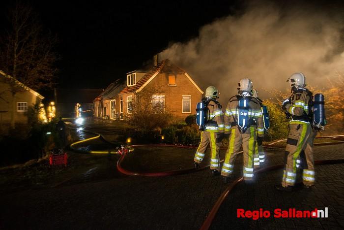 Uitslaande brand in woonboerderij aan de Hagweg Raalte