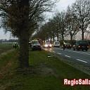 Auto in greppel bij ongeval op N348 in Raalte