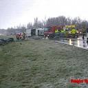 Ernstig ongeval door gladheid op N337 bij Laag Zuthem