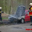 Autobrand aan de Boxbergerweg in Olst