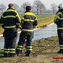 'Zwaan te water' bij aankomst brandweer gevlogen