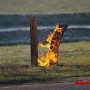 Buitenbrand aan de Bruinsweg in Olst