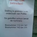 Getroffen boxnummers van caravanstalling Zwolle