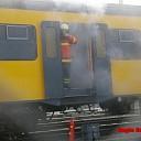 Brand in passagierstrein in 't Harde
