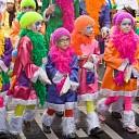 Drukte bij Carnaval Kinderoptocht in Raalte