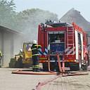 Veel brandweer bij hooibroei in schuur in Heeten