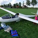 Zweefvliegtuig in de problemen boven Raalte