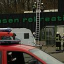 Felle brand bij Ton Jansen Rekreatie in Den Nul