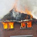 Grote brand aan de Nagelweg in Lemele