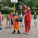 Basketbalclinic Henk Pieterse in Heino