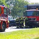 Veel schade bij aanrijding tegen vrachtwagen in Haarle