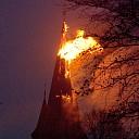 Toren Rooms-katholieke kerk in Wijhe afgebrand (update)