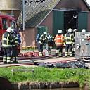 Schuur zwaar beschadigd na grote brand in Staphorst