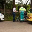 Scootmobiel in botsing met fietsster in Laag Zuthem