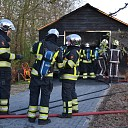 Brand in garage aan het Reepad in Welsum