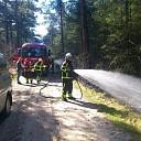 Bosbrand Rechterense Veld snel opgemerkt en geblust