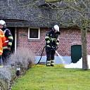 Schoorsteenbrand in woonboederij in Olst