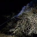 Paasvuur in Herxen geblust door de brandweer